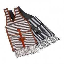 Satteltaschen braun/ weiß und schwarz/ weiß