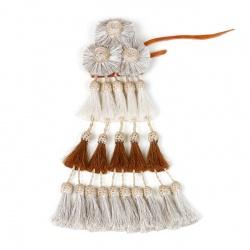 Mosqueros, handgearbeitet weiß/ braun