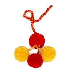Mähnenschmuck rot/ gelb