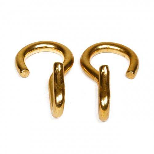 Kinnkettenhaken gold